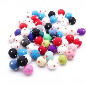 Polka dot felt ball