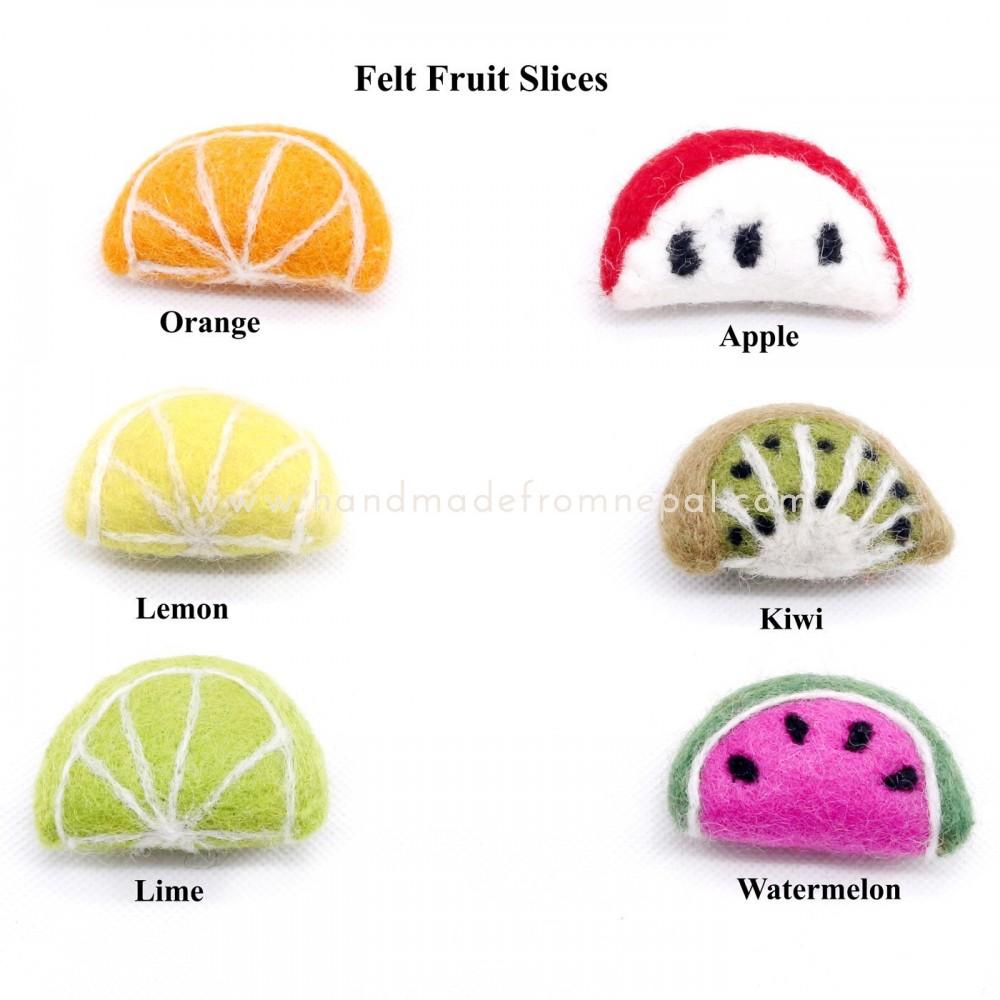 Felt fruit slice